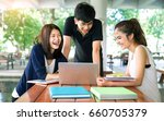 students asian together group... | Shutterstock . vector #660705379