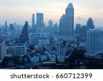 morning scenery of bangkok city ... | Shutterstock . vector #660712399