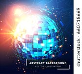 futuristic abstract sphere.... | Shutterstock .eps vector #660718669