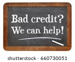bad credit  we can help  white... | Shutterstock . vector #660730051