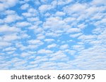 Small photo of Sky and clouds altocumulus in the morning