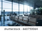 abstract blur in airport  with... | Shutterstock . vector #660750064