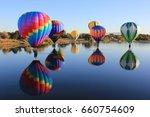 hot air balloon festival | Shutterstock . vector #660754609