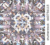 mosaic colorful pattern for... | Shutterstock . vector #660756115