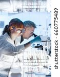 health care researchers working ... | Shutterstock . vector #660775489