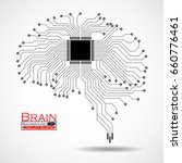 abstract technological brain.... | Shutterstock .eps vector #660776461