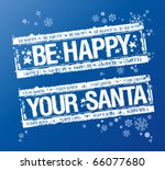 new year rubber stamps from... | Shutterstock .eps vector #66077680