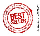 Best seller rubber stamp. - stock vector