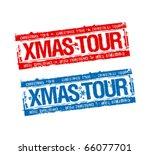 Christmas Tour Stamps Set.