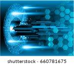 future technology  blue cyber... | Shutterstock .eps vector #660781675