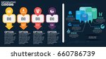 infographic design vector and... | Shutterstock .eps vector #660786739
