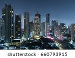 bangkok night view with... | Shutterstock . vector #660793915
