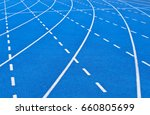 Small photo of All-weather blue running track