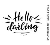 hello darling.inspirational... | Shutterstock .eps vector #660811411