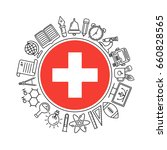 vector switzerland school... | Shutterstock .eps vector #660828565