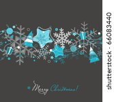 christmas card on grey | Shutterstock .eps vector #66083440