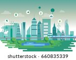sustainable city   Shutterstock .eps vector #660835339