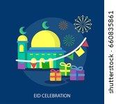 eid celebration conceptual... | Shutterstock .eps vector #660835861