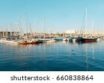 large yachts marina in soft...   Shutterstock . vector #660838864