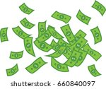 a lot of dollars.waste of money ... | Shutterstock .eps vector #660840097