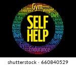 self help word cloud collage... | Shutterstock .eps vector #660840529