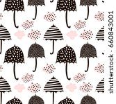 seamless pattern with hand...   Shutterstock .eps vector #660843001