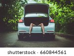 female legs from the trunk of... | Shutterstock . vector #660844561