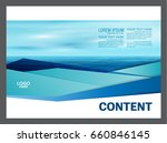 seascape and blue sky... | Shutterstock .eps vector #660846145