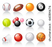 sport equipment icons | Shutterstock .eps vector #66084676