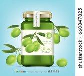olive oil bottle.vector | Shutterstock .eps vector #660847825
