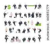 office life set corporate.... | Shutterstock .eps vector #660851779