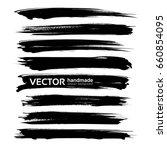 black big long abstract... | Shutterstock .eps vector #660854095