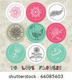 love flowers | Shutterstock .eps vector #66085603
