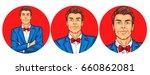 vector illustration  mens pop... | Shutterstock .eps vector #660862081