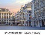 belgium. brussels. the grand... | Shutterstock . vector #660874609