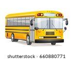 school bus on white | Shutterstock .eps vector #660880771