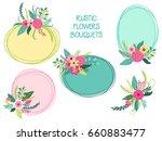 cute vintage elements as rustic ... | Shutterstock .eps vector #660883477