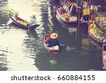 floating market in the thailand. | Shutterstock . vector #660884155