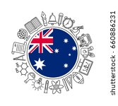 vector  australia school...   Shutterstock .eps vector #660886231