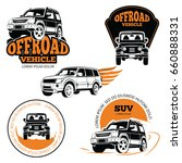 off road vehicle labels or... | Shutterstock .eps vector #660888331