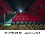 movie theater interior  with... | Shutterstock . vector #660896485