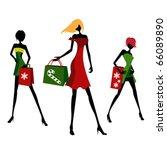 christmas shopping | Shutterstock .eps vector #66089890