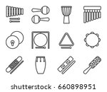 set of isolated line icon.... | Shutterstock .eps vector #660898951