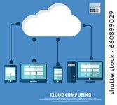 cloud computing concept design. ... | Shutterstock .eps vector #660899029