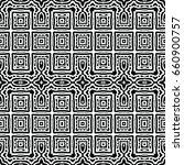 endless black and white... | Shutterstock .eps vector #660900757