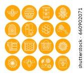 set of icons of beekeeping ...   Shutterstock .eps vector #660902071