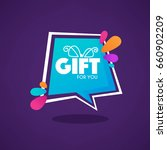 gift for you  web banner looks... | Shutterstock .eps vector #660902209