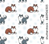 children's seamless pattern in... | Shutterstock .eps vector #660906505