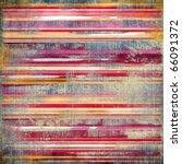 Vintage Striped Fabric...