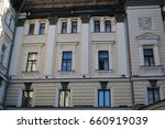 Small photo of MOSCOW - MAY 21, 2017: Big concert hall of Moscow Conservatory named after Pyotr Ilyich Tchaikovsky, famous historic building. Color photo.